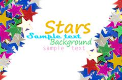Colored stars background for your text on photo, and other. - stock illustration