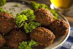 Healthy vegetarian falafel balls Stock Photos