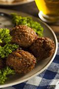 healthy vegetarian falafel balls - stock photo