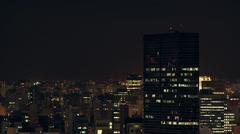 1311004 - Congonhas local airport, Sao Paulo, timelapse at night Stock Footage