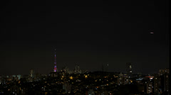 1311005 - North view, Sao Paulo, timelapse at night Stock Footage