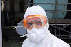 An engineer wearing his ppe - stock photo