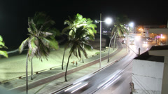 1404013 - Pituba beach, Salvador, timelapse at night Stock Footage