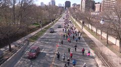 Toronto marathon race Stock Footage