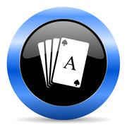 Blue circle glossy web icon Stock Illustration