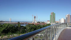 1404037 - Overview of Recife city, Beiramar Avenue, Recife, Pernambuco, Brazil Stock Footage