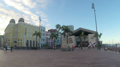 1404041 - Marco Zero, Rio Branco Square, Recife, Pernambuco, Brazil Stock Footage