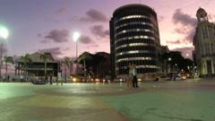 1404044 - Panoramic view of Marco Zero, Rio Branco Square, Recife, Pernambuco Stock Footage