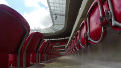 1404047 - Arena Pernambuco, Recife, wide angle of an aisle of the stadium Stock Footage