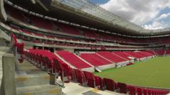 1404049 - Arena Pernambuco, Recife, wide angle of interior of the stadium Stock Footage