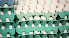 Eggs on the market. Textures Stock Footage