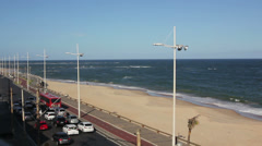 1404066 - Pituba beach, Salvador, Bahia, Octavio Mangabeira Avenue beachfront Stock Footage