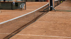 Tennis and ball in the net Stock Footage