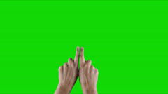 Touching technology one fingertip in green 1 Stock Footage