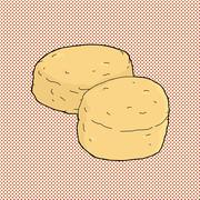 Stock Illustration of pair of biscuits