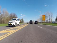 Fall Driving, Autumn, Highways, Early Spring Stock Footage