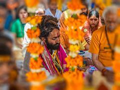 Stock Photo of Hindu religious ritual Puja