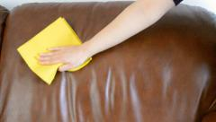 Sofa cleaning Stock Footage