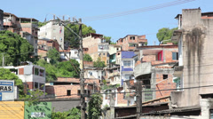 1404083 - Arena Fonte Nova, Salvador, slam and poor houses Stock Footage