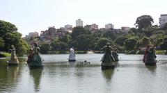 1404084 - Arena Fonte Nova, Salvador, Dique do Tororo, Orixas statues Stock Footage