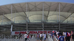 1404085 - Arena Fonte Nova, Salvador, stadium entrance, game day Stock Footage