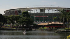 1404086 - Arena Fonte Nova, Salvador, Dique do Tororo, stadium entrance, lake Stock Footage
