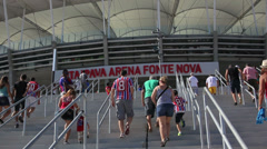 1404088 - Arena Fonte Nova, Salvador, stadium entrance, game day Stock Footage