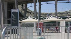 1404089 - Arena Fonte Nova, Salvador, stadium entrance, game day Stock Footage
