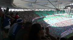 1404091 - Arena Fonte Nova, Salvador, GOAL!, crowd, inside stadium, filed - stock footage