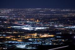 Denver metro area at night. urban panorama Kuvituskuvat