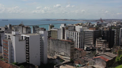 1404097 - Salvador, wide view of downtown part of the city Stock Footage