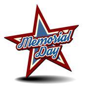 Memorial day star Stock Illustration