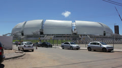 1404113 - Arena das Dunas, Natal, stadium global view Stock Footage
