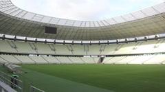 1404133 - Arena Castelao, Fortaleza, interior of stadium, field, grandstand - stock footage