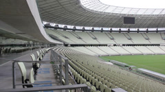 1404139 - Arena Castelao, Fortaleza, interior of stadium, field, grandstand Stock Footage