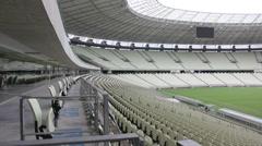 1404139 - Arena Castelao, Fortaleza, interior of stadium, field, grandstand - stock footage