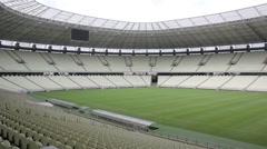 1404140 - Arena Castelao, Fortaleza, interior of stadium, field, grandstand - stock footage