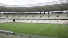 1404141 - Arena Castelao, Fortaleza, interior of stadium, field, grandstand - stock footage