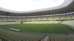 1404143 - Arena Castelao, Fortaleza, interior of stadium, field, grandstand - stock footage