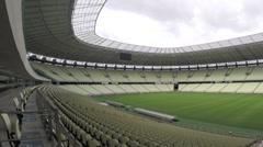 1404144 - Arena Castelao, Fortaleza, interior of stadium, field, grandstand - stock footage