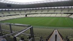 1404145 - Arena Castelao, Fortaleza, interior of stadium, field, grandstand - stock footage