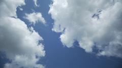 Clouds timelapse springtime 9 Stock Footage