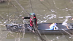 Toronto don river paddle the don canoe event Stock Footage