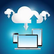 Technology electronics cloud connection Stock Illustration