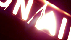 "Neon ""On Air"" Sign Blurred Motion Abstract Light Effect Transition - stock footage"