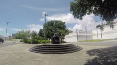 1404159 - Fortaleza, Ceara, downtown, avenue, army soldier statue, wide angle Stock Footage