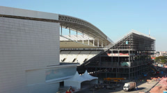 1404182 - Arena Sao Paulo, side of stadium, provisory grandstand, 04-29-2014 Stock Footage