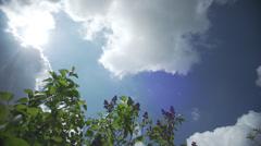 Clouds timelapse springtime 8 Stock Footage