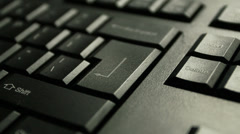 "Press the""Enter"" key on keyboard Stock Footage"