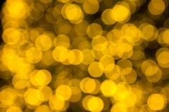 Yellow bokeh light abstract background Stock Photos